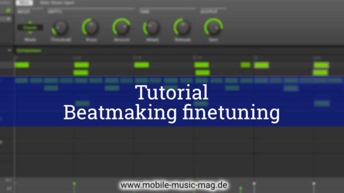 Beatmaking finetuning mit Maschine
